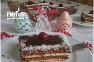 Çikolata Soslu Şipşak Bisküvi Pastası Tarifi