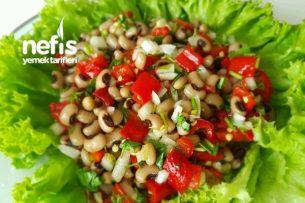 Kırmızı Köz Biberli Börülce Salatası Tarifi