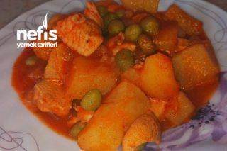 Tavuklu Bezelyeli Patates Yemeği (Harika Lezzet, Resimli aşamalarla) Tarifi