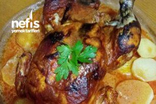Haşlanmış Bütün Tavuk Kızartması (Fırında) Tarifi