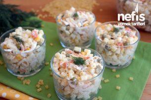 Tavuklu Yoğurtlu Makarna Salatası Tarifi