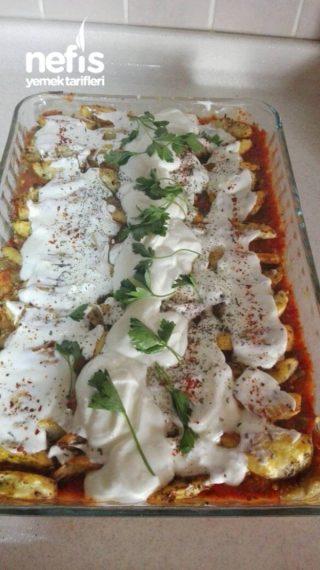 Közlenmiş Patlıcanlı Yaz Yemeği
