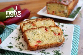 Sebzeli ve Peynirli Muhteşem Tuzlu Kek - Çok pratik videolu tarif Tarifi