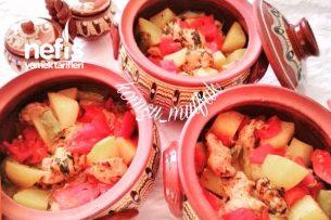 Güveçte Tavuk Patates Tarifi
