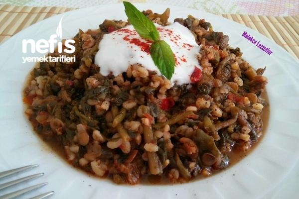 Mercimekli Bulgurlu Semizotu Yemeği (Dondurucudan Harika Lezzet) Tarifi