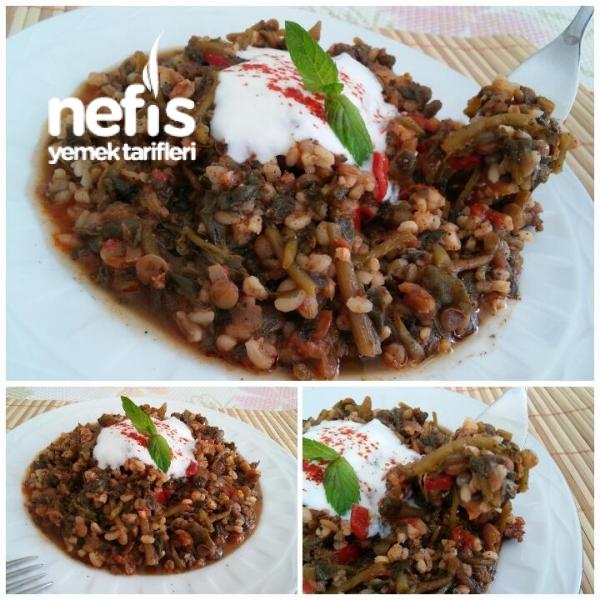 Mercimekli Bulgurlu Semizotu Yemeği (Dondurucudan Harika Lezzet)