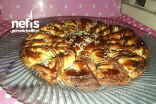 Ay Çiçeği Şeklinde Çikolatalı Çörek Tarifi