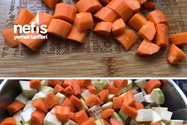firinda sebzeli turlu ( etsiz oturtma)