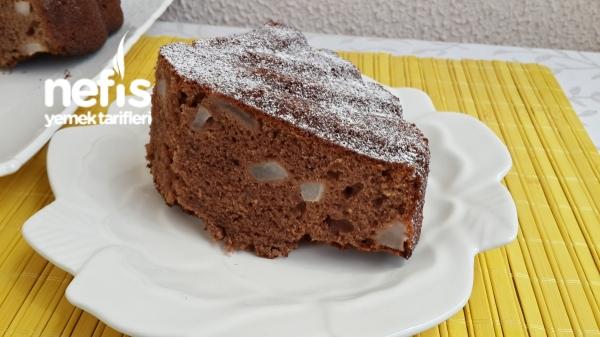 Yumuşacık Kakaolu Armutlu Kek