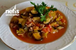 Az Zamanda Az Malzemeli Patlıcan Oturtması Tarifi