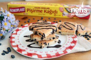 Bisküvi Tadında Damla Çikolatalı Tepsi Kurabiye - 5 Dakika Kurabiyesi Tarifi