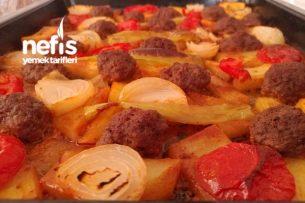 Fırında Leziz Köfte Patates Tarifi