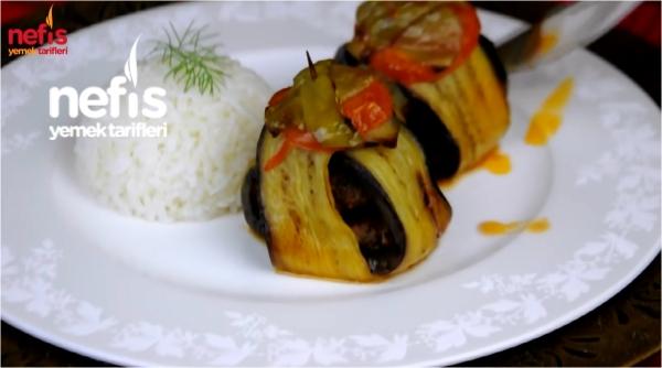Köfteli Patlıcan Bohçası Tarifi (Kürdan Kebabı)