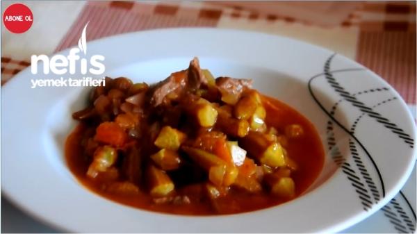 Etli Bamya Yemeği (Dondurulmuş Bamya ile)