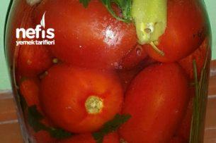 10 Dk Süper Kırmızı Domates Turşusu (Kış İçin) Tarifi