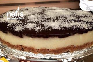 Cheesecake Görünümlü İrmik Pastası Tarifi