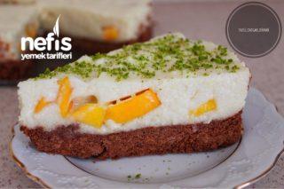 Şeftalili İrmikli Bisküvi Pastası Tarifi