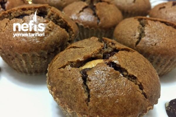 Çikolata Dolgulu Kahveli Muffin Tarifi
