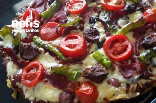 Diyabetik Unsuz Kilo Yapmayan Pizza Tarifi