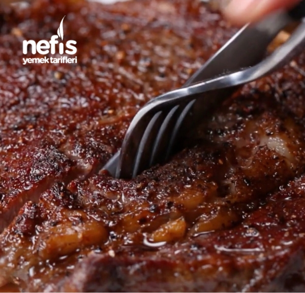 Özel Sosta Marine Edilmiş Biftek ve parmesanlı patates (Evinizin Nusret'i olun)