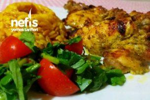 Fırında Tavuk Pirzola (Köri Sosta Marine Edilmiş) Tarifi