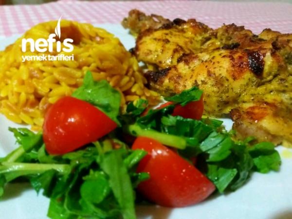 Fırında Tavuk Pirzola (Köri Sosta Marine Edilmiş)