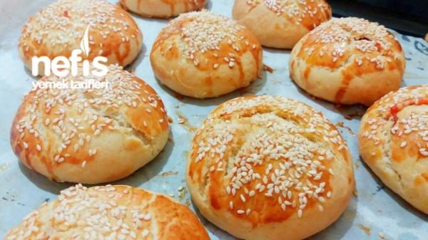 Kahvaltılık Pizza Poğaça ( Çok Lezzetli )