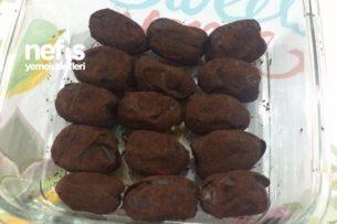 Sağlıklı Atıştırmalık Kakao Kaplı Bademli Hurma Tarifi