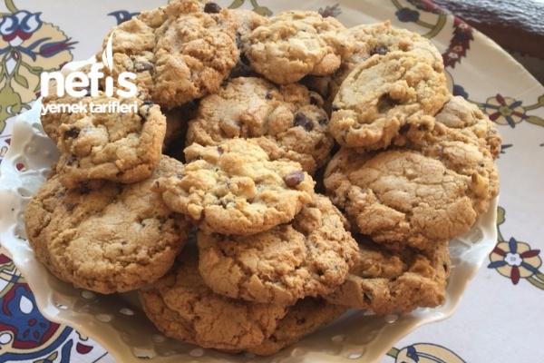 Damla Çikolatalı Kurabiye (Chocolate Chip Cookies) Tarifi