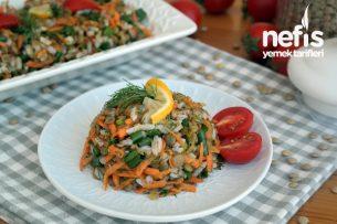 Yeşil Mercimek Salatası (çok doyurucu ve besleyici) Tarifi
