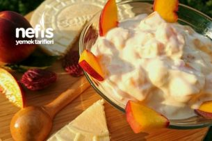 Şeftalili Yoğurt (Bol Meyve Taneli, Harika Lezzet) Tarifi