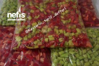 Derin Dondurucuda Kırmızı Ve Yeşil Biber Tarifi