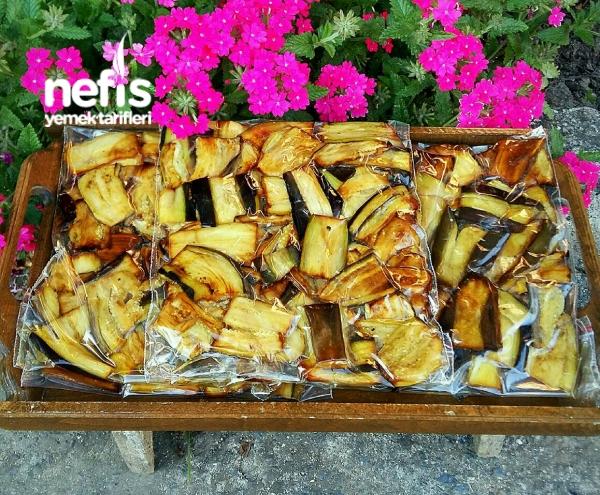 Kışlık Dondurucuda Patlıcan Saklama (Yemeklik)