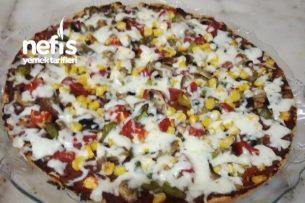 Bazlama Ekmeğinde Pizza Tarifi