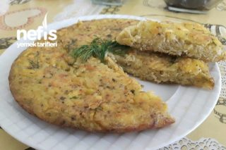 Patatesli Dereotlu Puf Omlet Tarifi