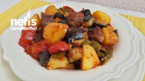 Fırında Nefis Etli Sebze Kebabı