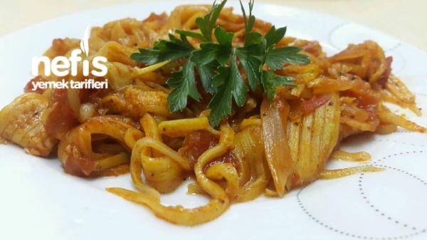 Kabak Spagetti (düşük Kalorili Soslu Makarna)