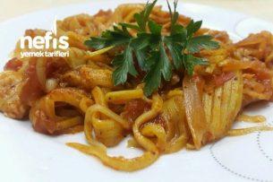 Kabak Spagetti (Düşük Kalorili Soslu Makarna) Tarifi