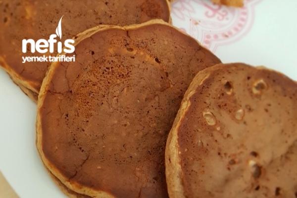 Yüksek Proteinli Muzlu Çikolatalı Diyet Pankek Tarifi