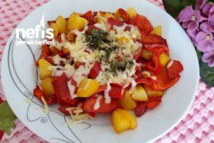 Harika Kahvaltılık Patates Ve Kırmızı Biber Tarifi