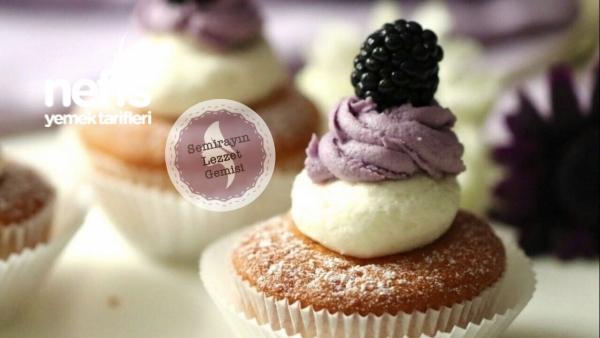 Böğürtlen Cupcake Videolu