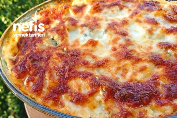 Peynirli Maydanozlu Pratik Fırın Makarna Tarifi