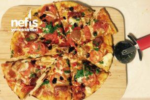 Beyaz Peynirli Kolay Pizza Tarifi