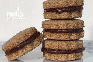 Çikolata Kremalı Yulaflı Bisküvi Tarifi