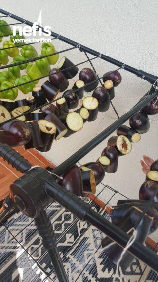 Kışa Kurutulmuş Dolmalık Biber Ve Patlıcan Yapılışı