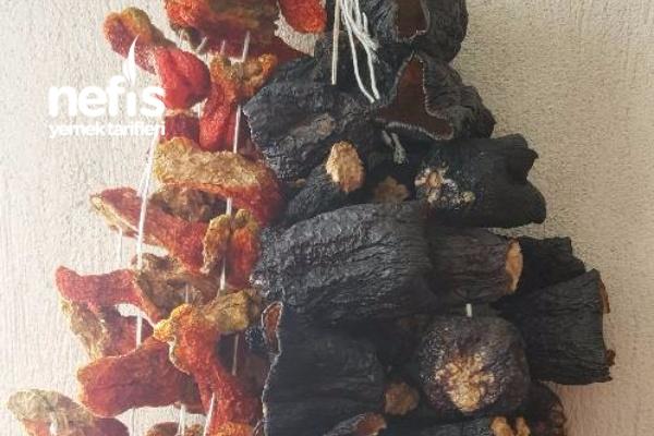 Kışa Kurutulmuş Dolmalık Biber Ve Patlıcan Yapılışı Tarifi