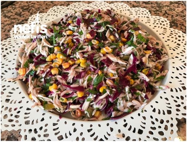 Rengarenk Tavuk Salatası