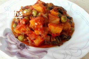 Patatesli, Bezelyeli Patlıcan Yemeği (Muhteşem Ötesi Lezzet) Tarifi
