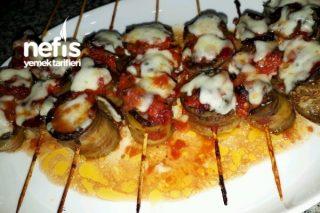 Ana Yemek Köfteli Patlıcanlı Şişte Kebap Tarifi