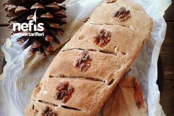 Ekşi Mayalı Çavdarlı Cevizli Ekmek